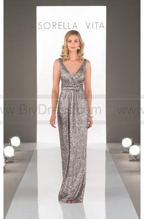Hochzeit - Sorella Vita Platinum Bridesmaid Dress Style 8686