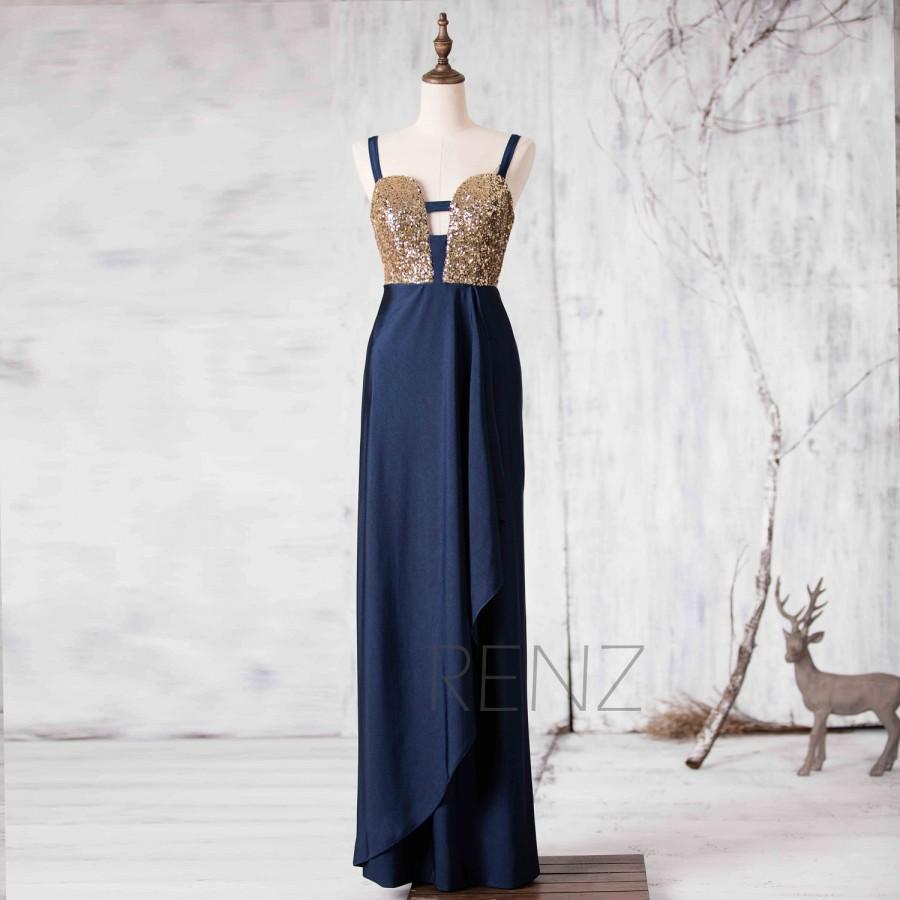 9cafa41d212 2015 Gold Sequin Bridesmaid Dress