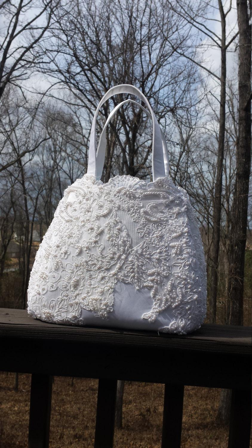 Свадьба - Upcycled/Repurposed wedding gown made into a Swoon Ethel Tote