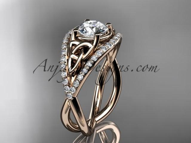 Mariage - Spring Collection, Unique Diamond Engagement Rings,Engagement Sets,Birthstone Rings - 14kt rose gold celtic trinity knot engagement ring wedding ring