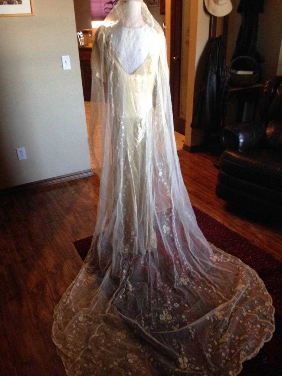 Свадьба - REDUCED!!!!  Fabulous Edwardian Princess Lace Wedding Veil