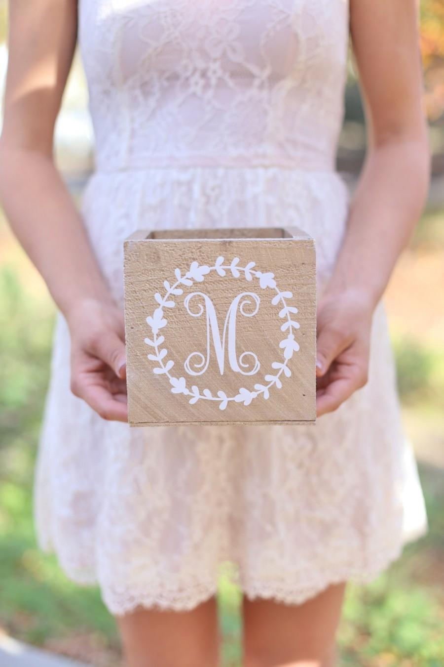 Mariage - Personalized Rustic Wood Planter Box Custom You Pick The Colors QUICK shipping available