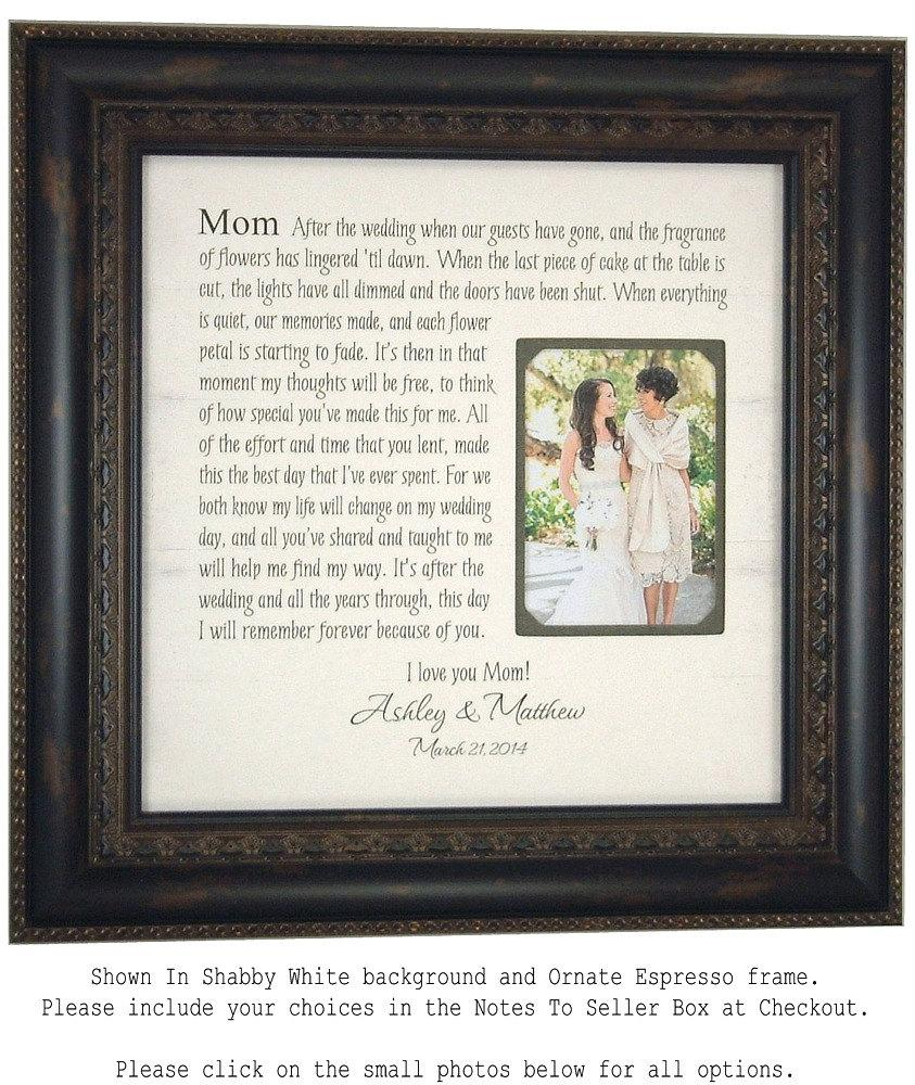 Wedding Picture Frame Mother Of The Bride Gift, Parents Thank You ...