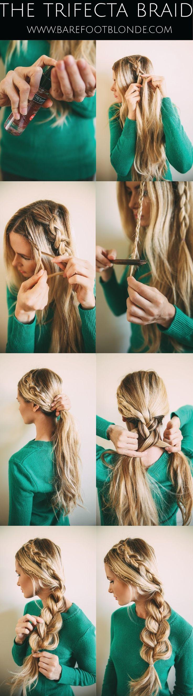 Как сделать косички из средних волос