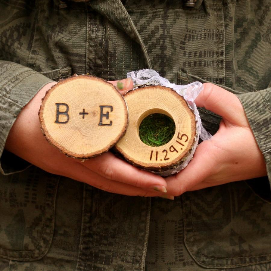 Personalized Ring Box Wedding Ring Box Wood Ring Box Proposal Ring Box Engagement  Ring Box Hippie Wedding Ring Holder Custom Ring Box Wood