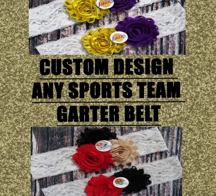 Свадьба - CUSTOM YOU DESIGN Any Sports Team Wedding Garter,Football, Hockey, Soccer , Baseball , Basketball, Fifa, Nba, Nfl, Toss Garter Set