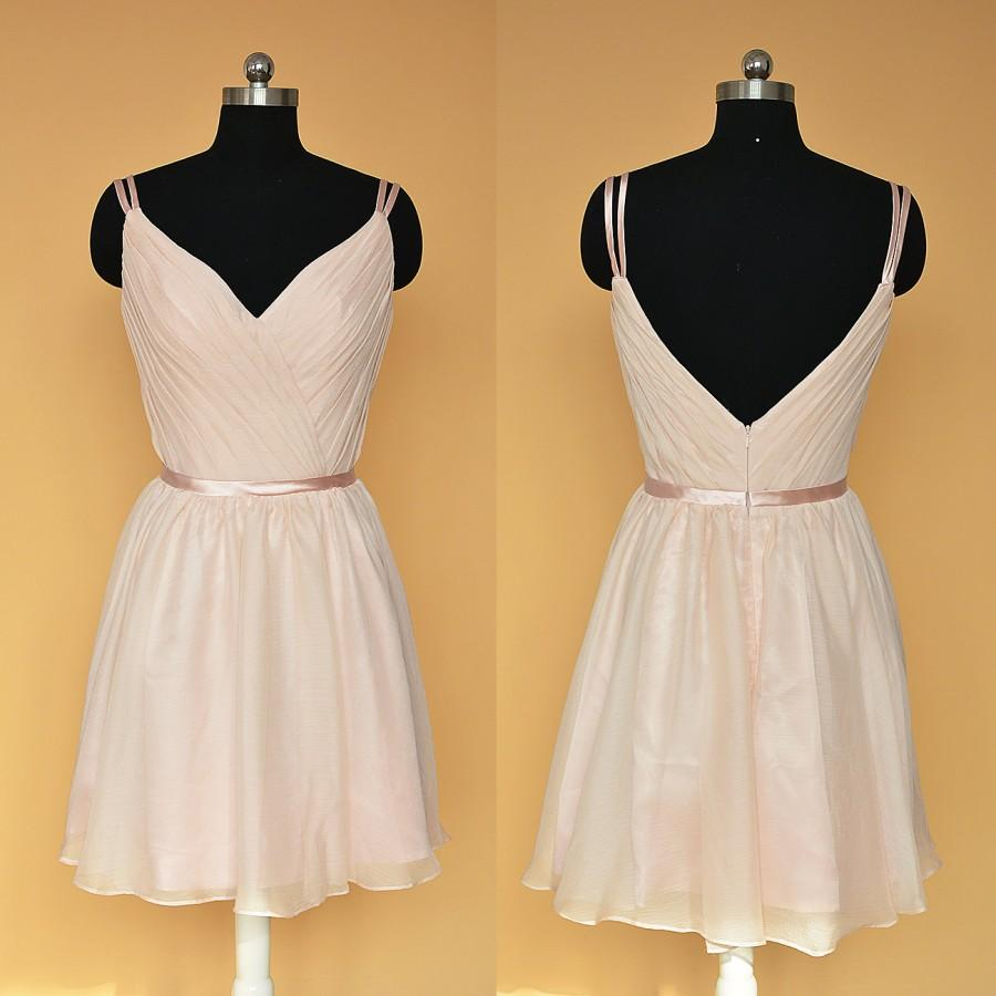 Short Bridesmaid Dress Blush/Pink Bridesmaid Dress Short ...