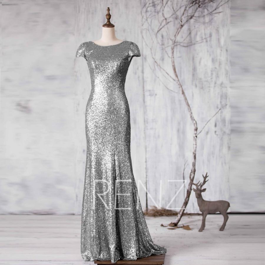 97666a594ff 2015 Silver Bridesmaid Dress