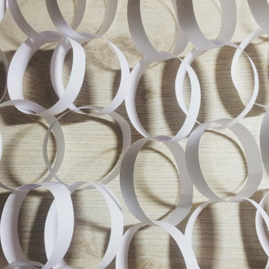 Свадьба - White Paper Garland Set, Holiday, Party, Wedding, Home Decor, Gift