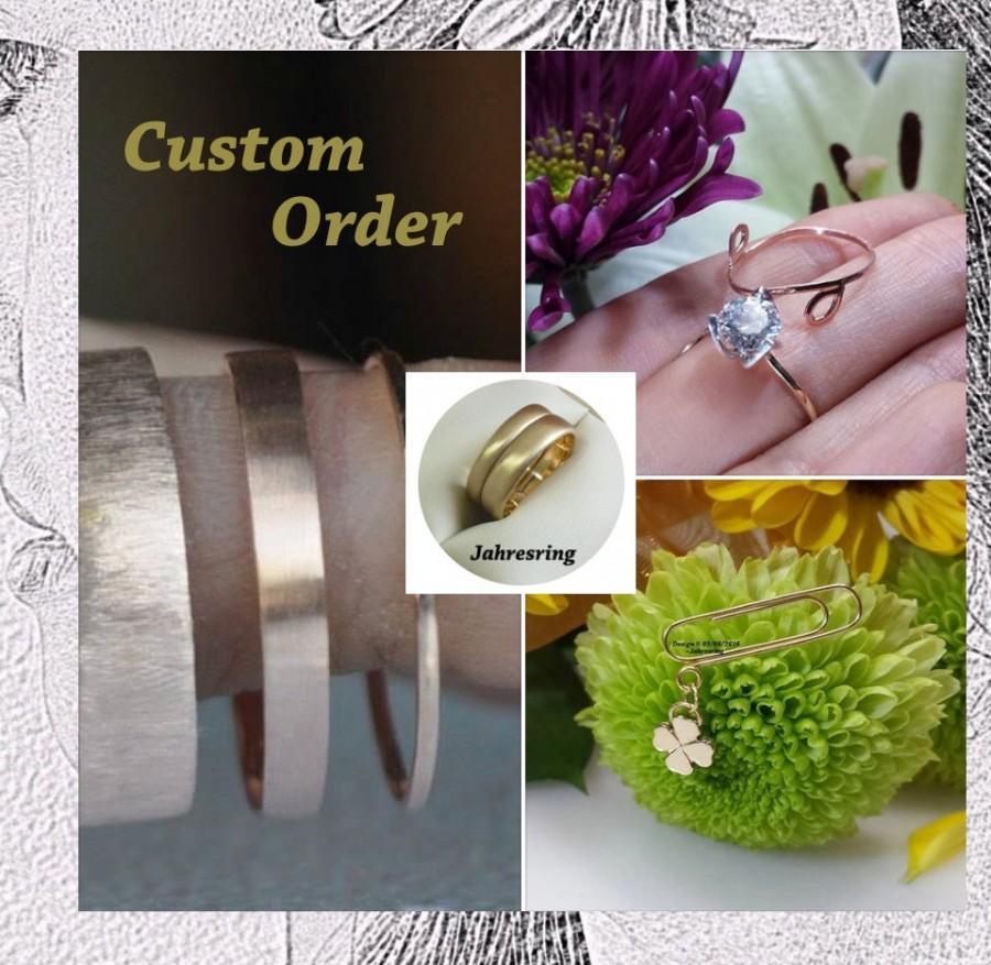 Mariage - Custom order Reservation ~ Jahresring 14kt 18kt 22kt 24kt gold Palladium Platinum wedding anniversary eternity mothers bridal grooms gifts