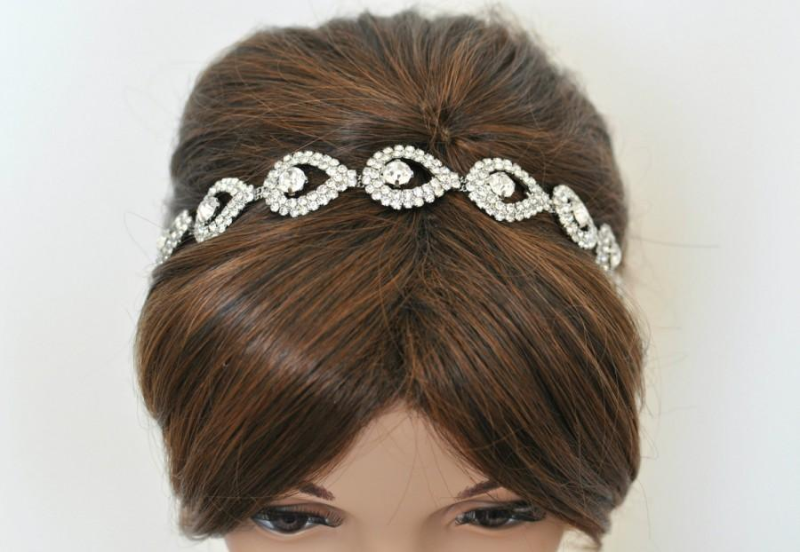 Wedding - Wedding headpiece, headband, TIFFANY, Rhinestone Headband, Wedding Headband, Bridal Headband, Bridal Headpiece, Rhinestone