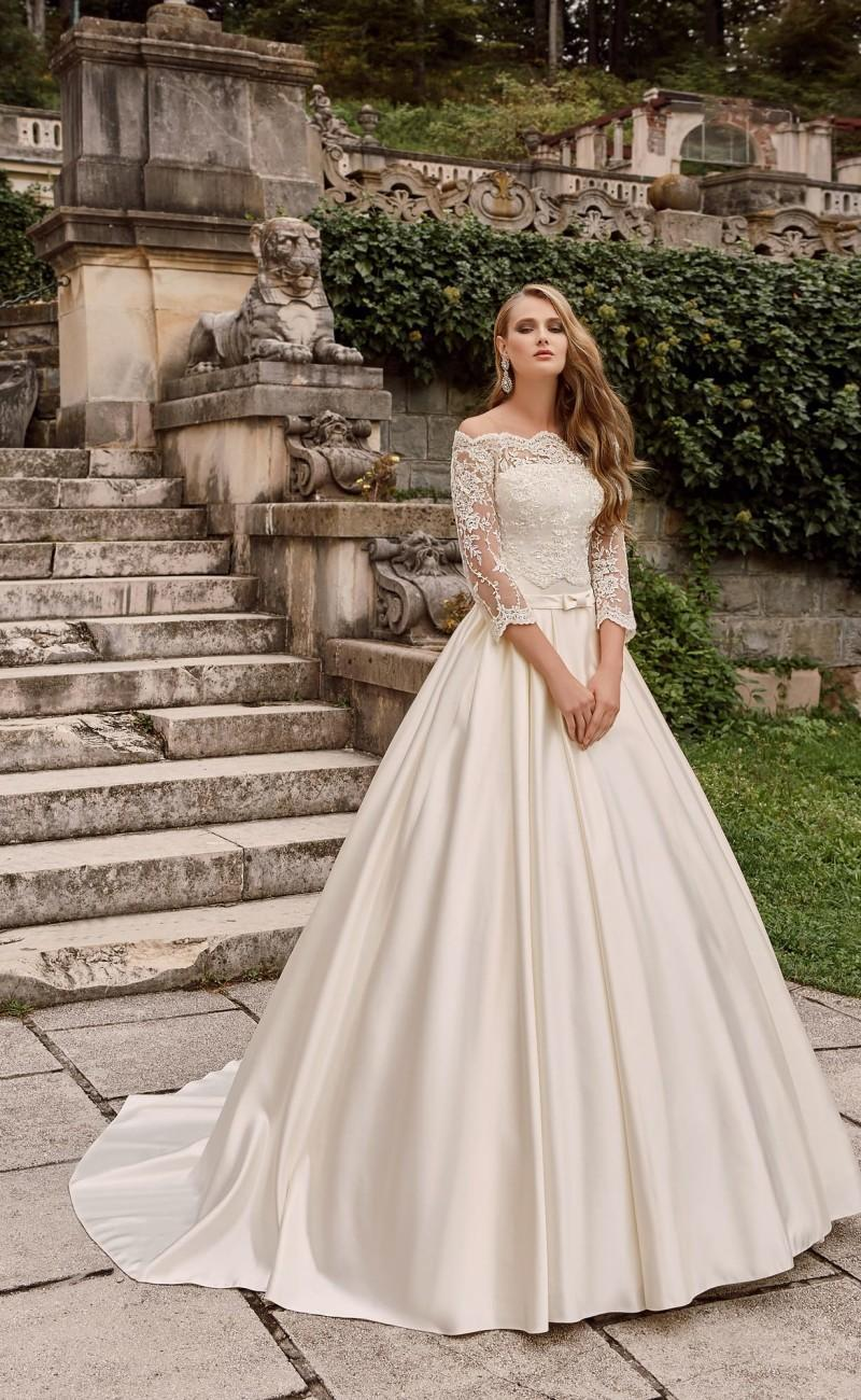 Wedding - Princess 2016 Wedding Dresses with Bolero Lace Bridal Ball Gowns Off the Shoulder Long Sleeves Jackets Cathedral Wedding Gowns Cheap Online with $112.31/Piece on Hjklp88's Store