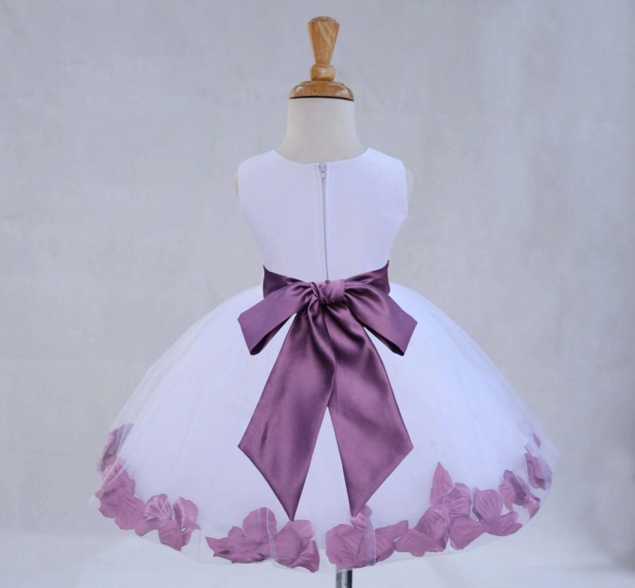 d7bf7e4b15c Ivory Flower Girl dress sash pageant petals wedding bridal children  bridesmaid toddler elegant sizes 6-18m 2 3t 4 5t 6 6x 7 8 10 12 14