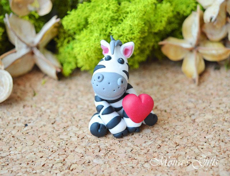 Custom Zebra Cake Topper For Birthday Baby Shower Wedding