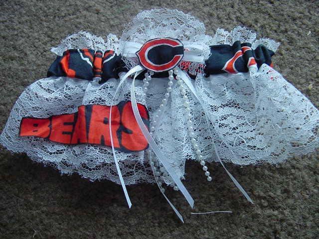 Wedding - Chicago Bears  NFL Football Wedding Bridal Garter Regular/Plus Size