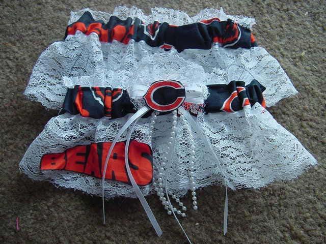 Wedding - Chicago Bears NFL Football Wedding Bridal Garters Set Regular/Plus Size