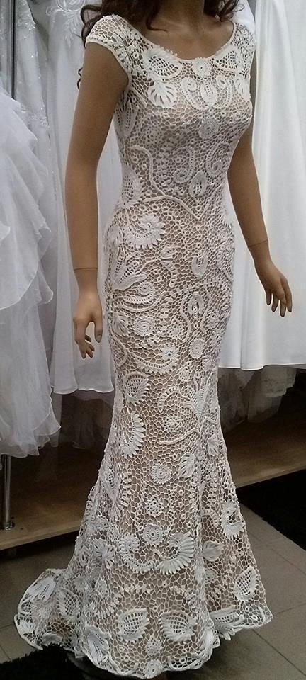 Unique irish crochet wedding dress custom made 2480620 weddbook unique irish crochet wedding dress custom made junglespirit Gallery