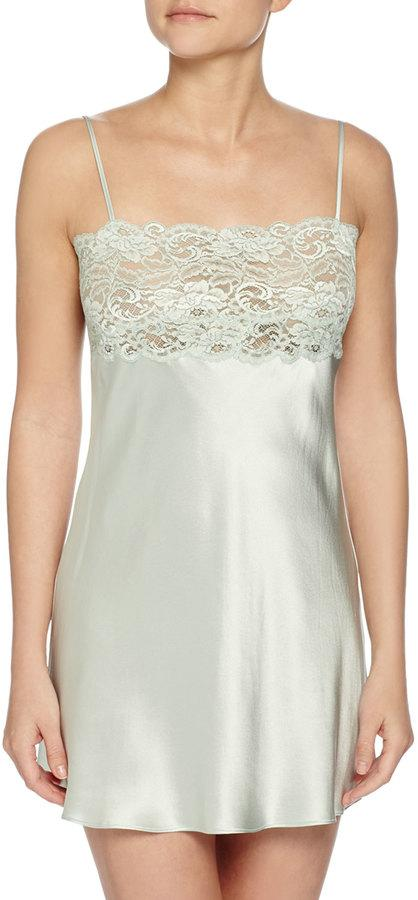 Mariage - Christine Bijoux Lace-Trimmed Chemise, Willow