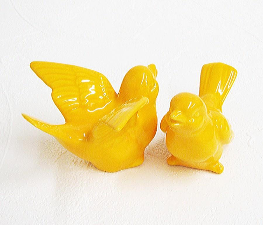 Ceramic Retro Love Bird Figurines Wedding Cake Toppers Keepsakes In ...