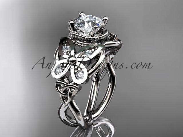 Wedding - Spring Collection, Unique Diamond Engagement Rings,Engagement Sets,Birthstone Rings - platinum diamond celtic trinity knot engagement ring wedding band