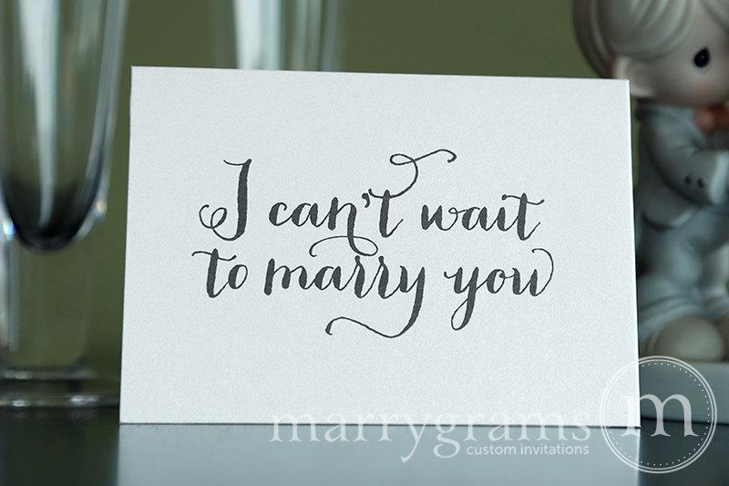 Düğün - Wedding Card to Your Bride or Groom - I Can't Wait to Marry You - Wedding Day Card, Goes with Gift for Groom - Love Note Before I Do CS02