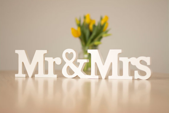 Wedding Mr Mrs Sign Letter Sweetheart Table Decoration And White Letters Photo Prop