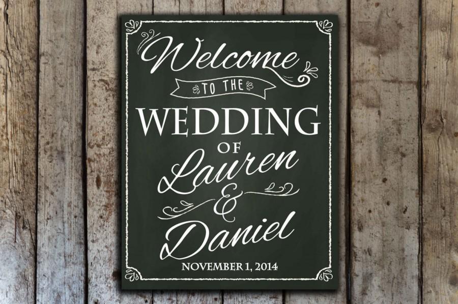 Wedding Chalkboard Sign Welcome Sign
