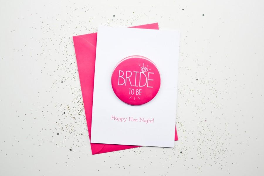 Bride To Be Card Badge Hen Night Party Bachelorette