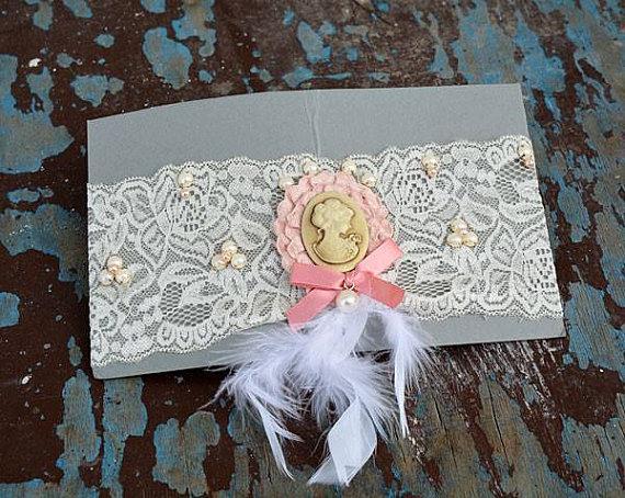 Mariage - Wedding leg garter, Wedding Garter, Bridal Garter, ivory Lace Garter, Bridal Accessory,Wedding Accessory