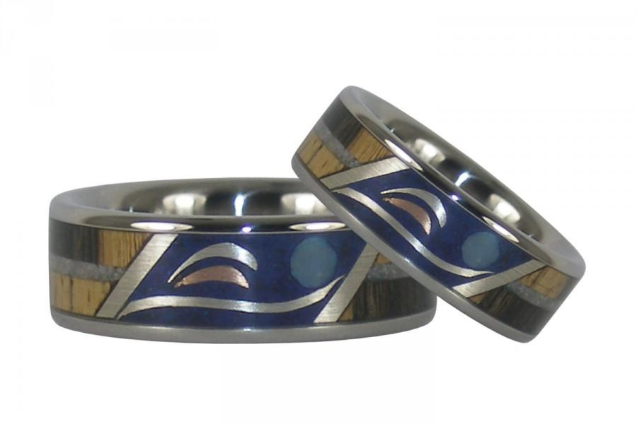 Mariage - Dolphin Harmony Wood and Stone Rings