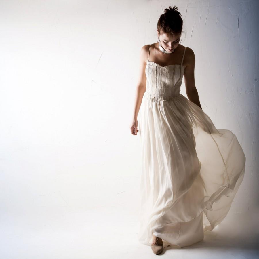 Mariage - Wedding dress, Bridal gown, Boho wedding dress, Beach wedding dress, gypsy wedding dress, Chiffon wedding dress, Alternative wedding dress