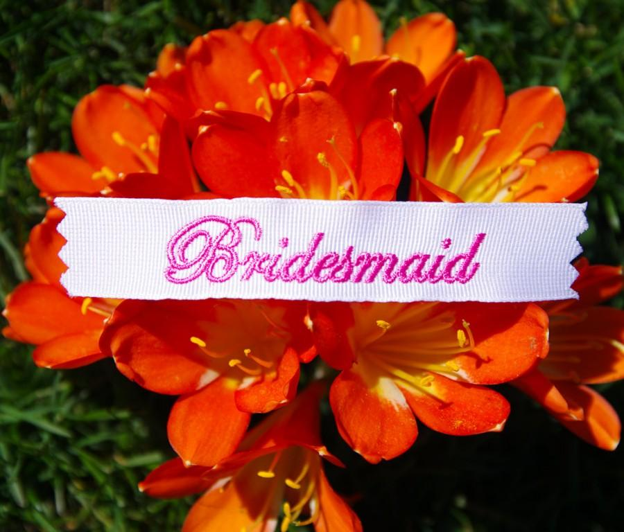 Wedding - Bridesmaid Personalized  Labels  by Natalia Sabins Custom Embroidered