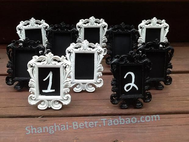 White Or Black Mini Chalkboard Table Number Frames Elegant Wedding Decor Formal Place Setting Buffet Line