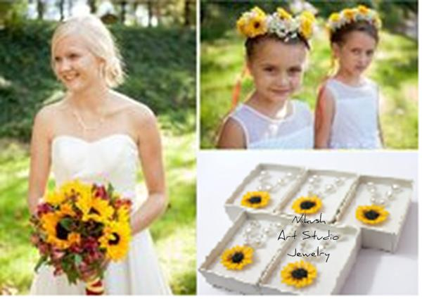 Wedding - Sunflowers Wedding by Nikush Jewelry Art Studio