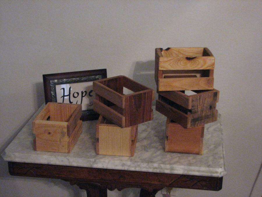 Свадьба - Small Rustic Crate 20 Pack