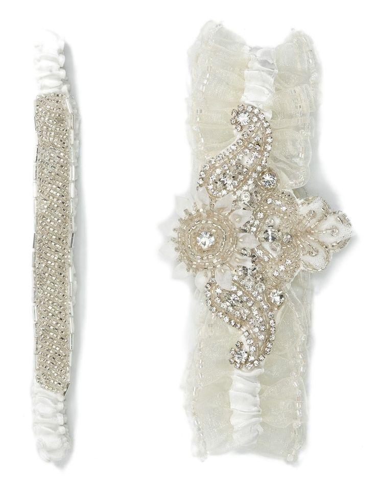 Свадьба - Nestina Accessories 'Briana' Bridal Garters (Set Of 2)