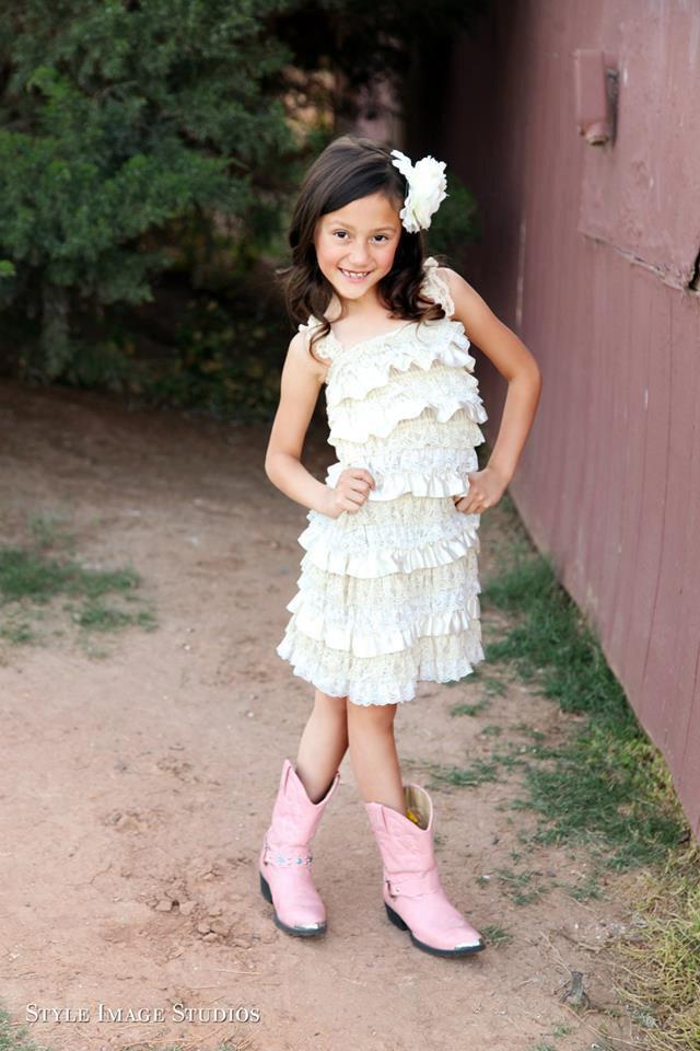 Rustic Flower Girl Dress Lace Pettidress Rustic Flower Girl