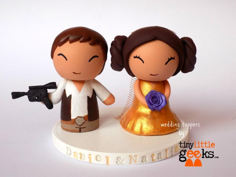 Свадьба - Wedding Cake Topper - Star Wars inspired (Han & Leia)