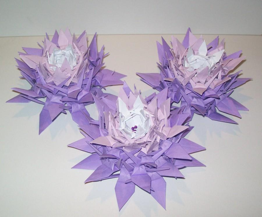 Свадьба - 10 origami crane flower, origami crane, wedding decoration crane flower, centerpiece, origami paper flower bouquet, table decoration