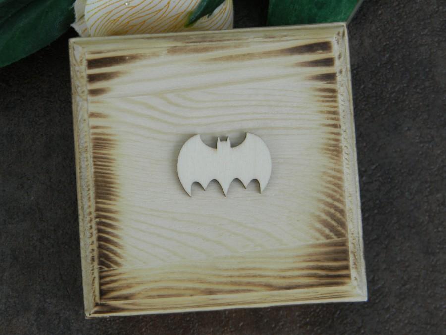 Mariage - Rustic Ring Bearer Box Pillow Alternative, Batman Superhero Nerdy Ring Bearer Box, Shabby Chiffon Flower Ring Box, Personalized Initials Box