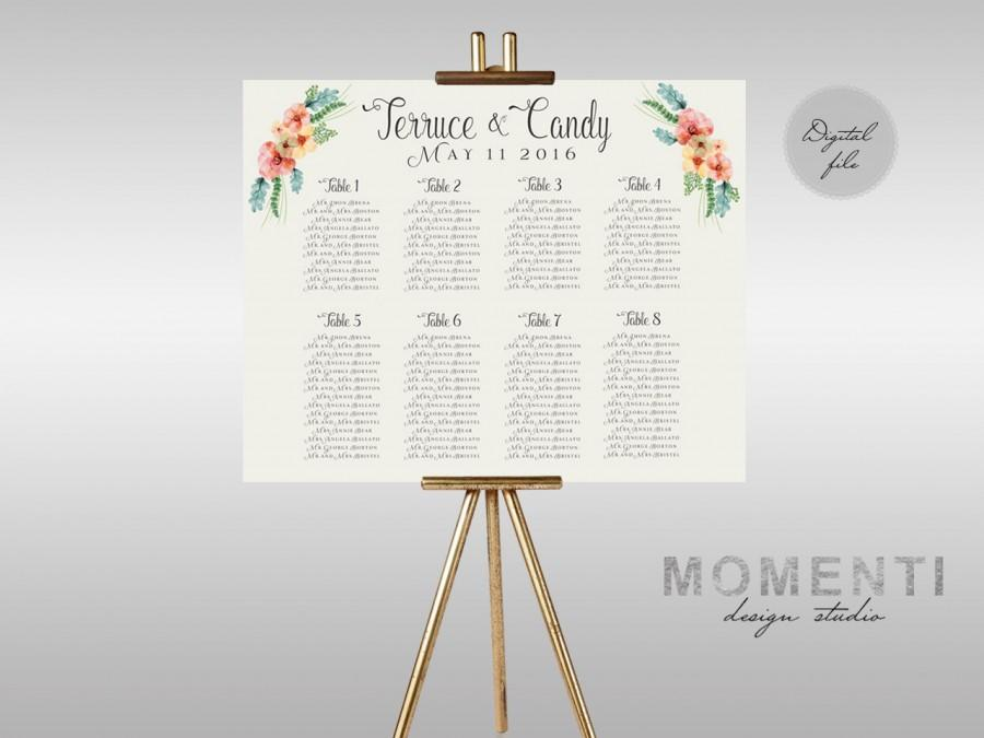 wedding seating list