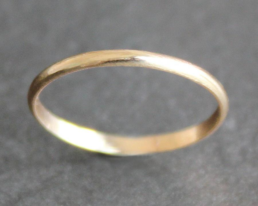 Mariage - 14K Solid Gold Ring - 1.6mm Simple Band - Classic Wedding Band (Size 2 - 11)