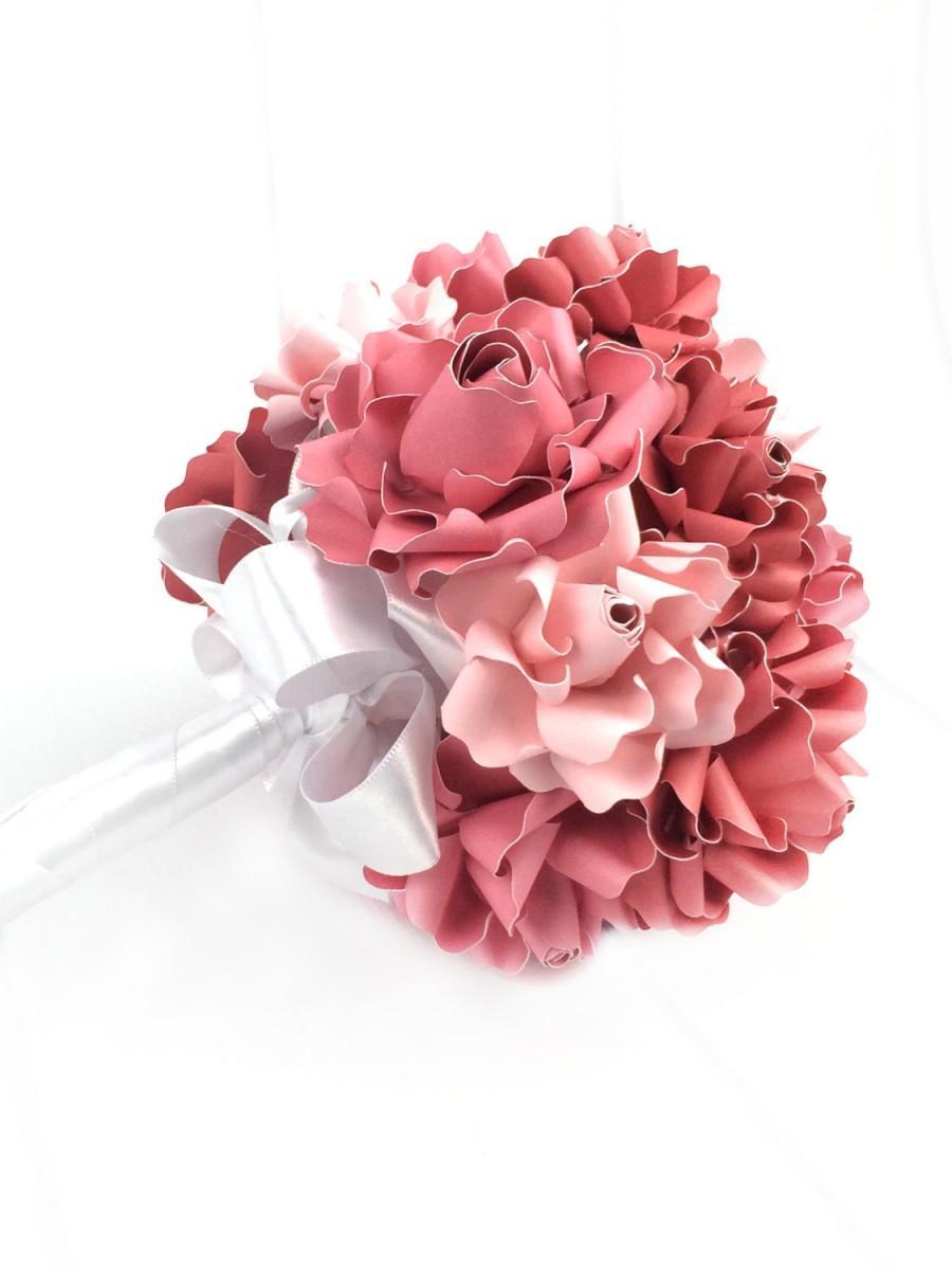 زفاف - Paper Flower Wedding Bouquet - Bridal Bouquet - Paper Flower Bouquet - Unique Wedding Bouquet - Alternative Wedding Bouquet - Rustic Wedding
