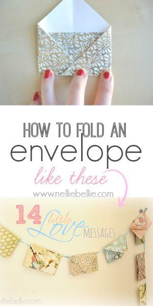 Hochzeit - Fold An Envelope; A How-to From