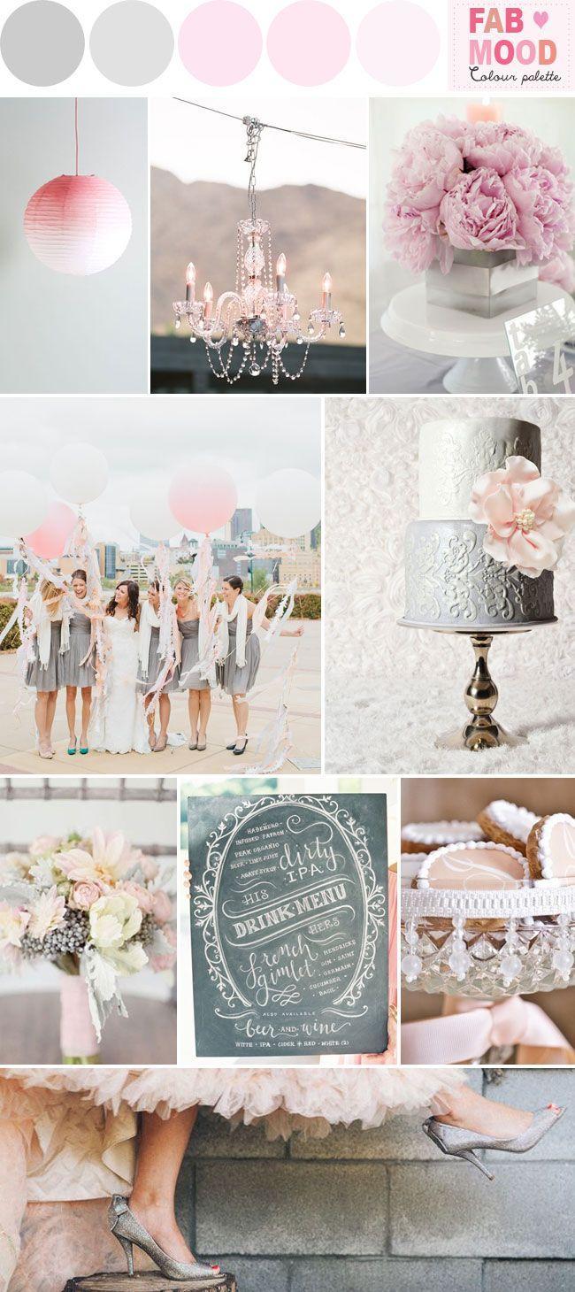 Wedding Theme - Grey Pink Wedding Colors Palette Ideas #2482021 ...