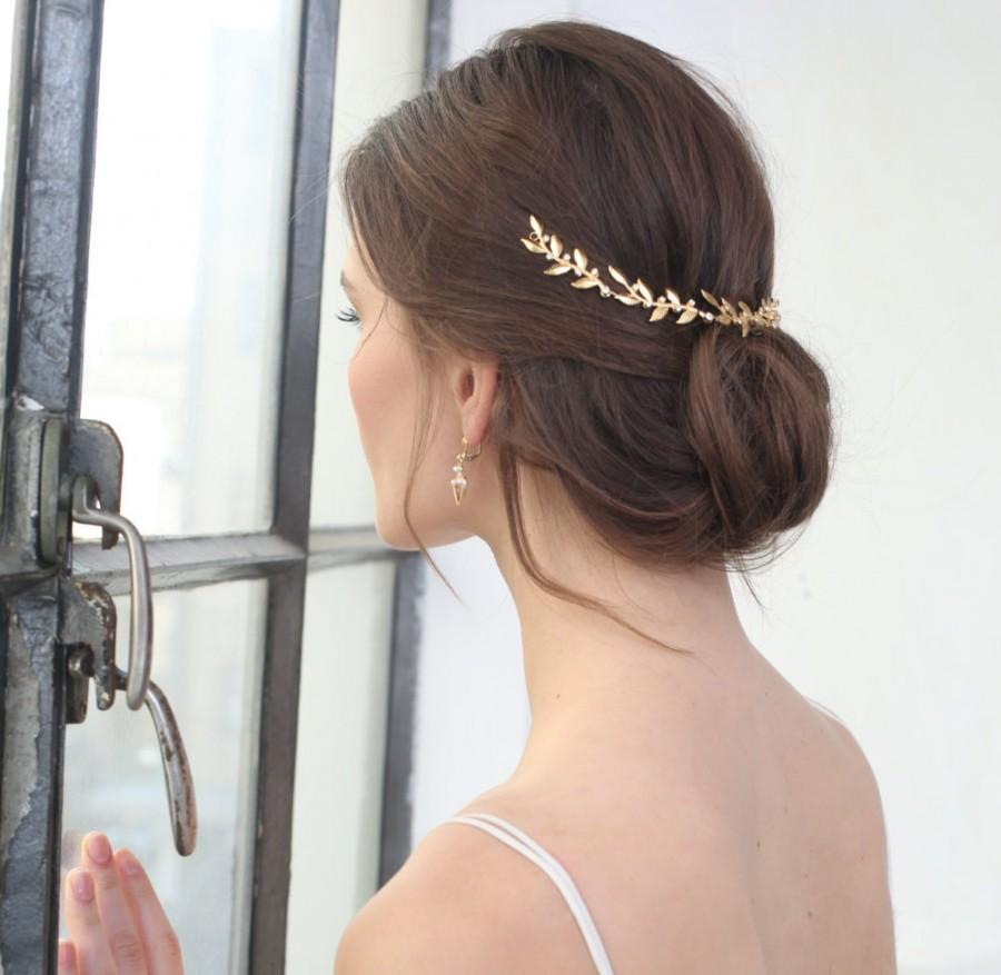 Hochzeit - Wedding tiara, gold leaf headpiece, Wedding headpieces, Hair accessories, leaf crown, leaf headband