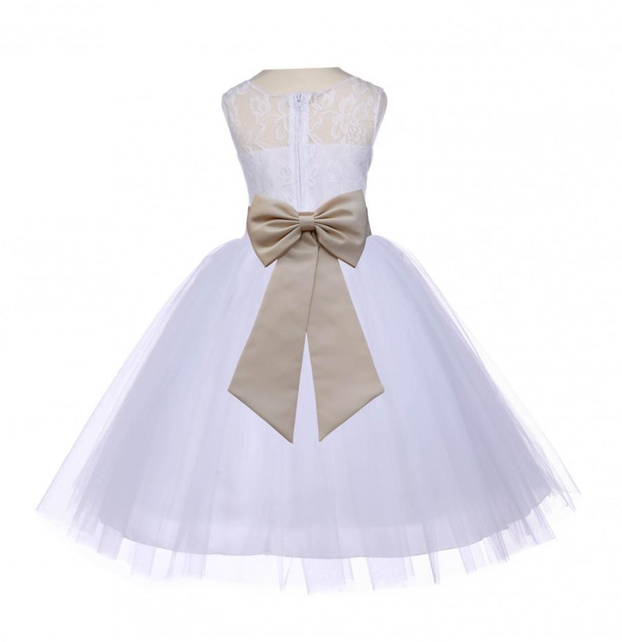 Свадьба - White Flower girl tulle dress Lace bodice wedding pageant special occasions dancing fashion dress toddler elegant sizes 2 4 6 8 10