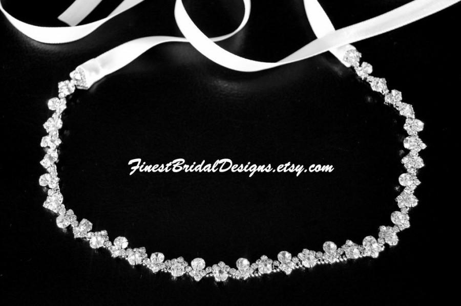 Wedding - Bridal RHINESTONES Headband, Bridal Headpiece, Rhinestone Headband, Crystal Bridal Headband, Bridal Headband, Wedding Headpiece