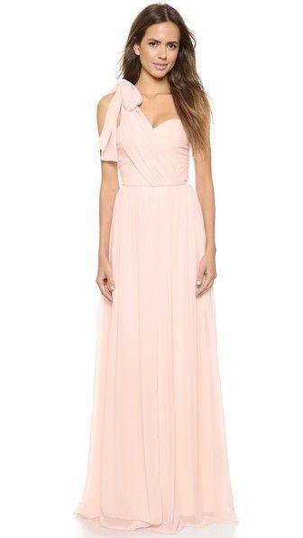 زفاف - Pink Wrap Dress For Bridesmaids