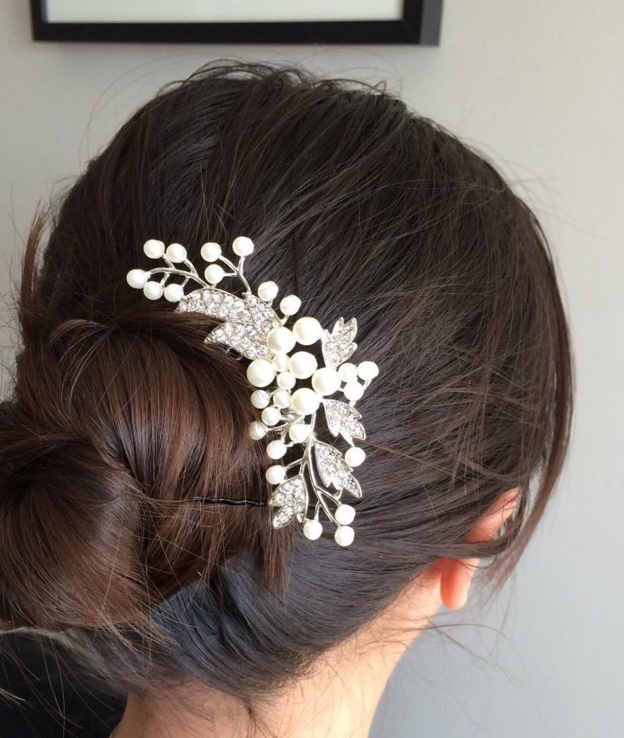 Wedding - bridal comb,wedding comb hair accessory,wedding hair comb,pearl bridal comb,wedding hair accessory,bridal hair piece,wedding headpiece